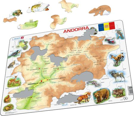 A26 - Andorra Physical Map