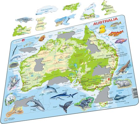 A31 - Australia Physical Map