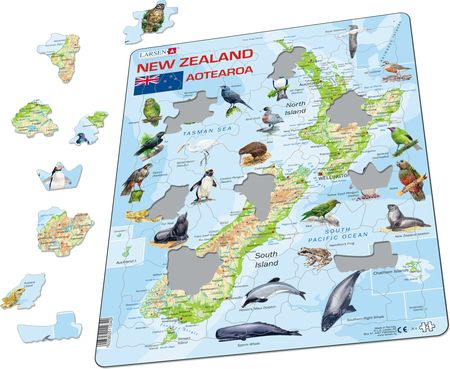 A4 - New Zealand Physical Map