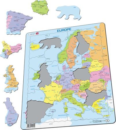 A8 - Europe Political Map for Younger Children