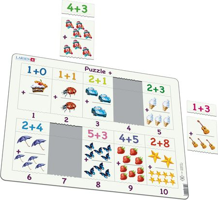 AR4 - Math puzzle: Addition from 1 to 10
