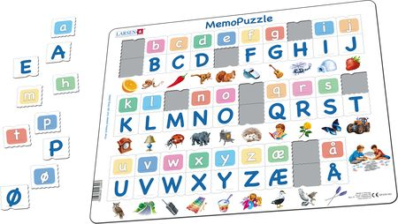 GP429 - MemoPuzzle. The Alphabet with 29 upper case- and lower case letters.