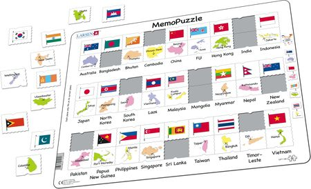 GP7 - MemoPuzzle: Names, Flags and Capitals of 27 Countries in Asia and the Pacific