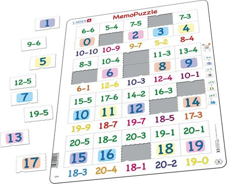 GP8 - MemoPuzzle: Subtraction with Numbers from 0 - 20