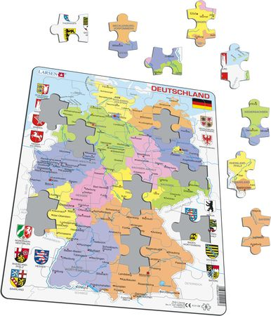 K21 - Germany Political Map