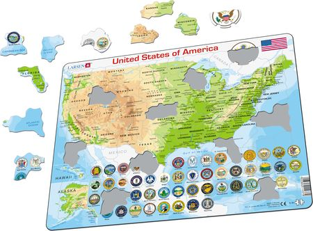K36 - United States of America Physical Map
