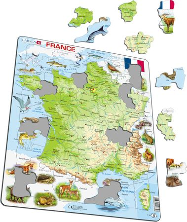 K49 - France Physical Map