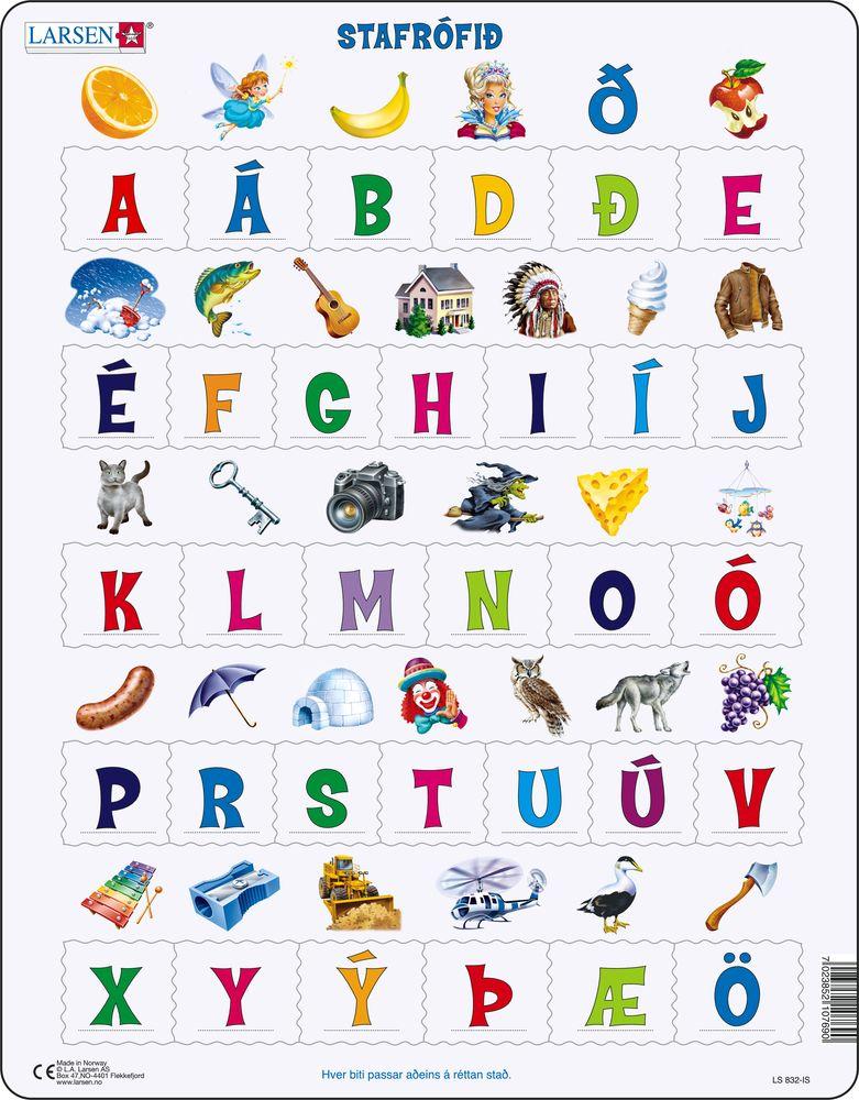 LS832 - Lær bokstavene(32) (Islandsk)