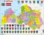 A10 - Latvia, political map
