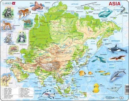 A30 - Asia, topografisk kart