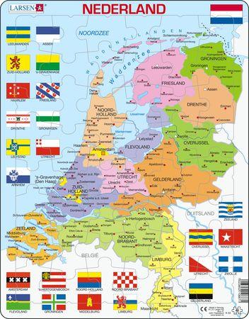 K53 - Nederland, politisk kart