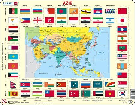 KL2 - Kart/flagg - Asia