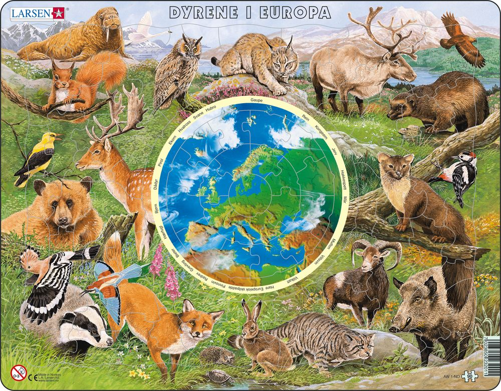 AW1 - Dyrene i Europa (Norsk)
