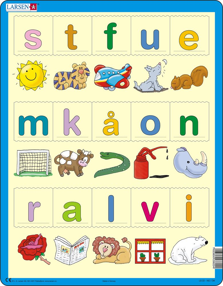 LS22 - Learn the letters (lower cases) (Norwegian)