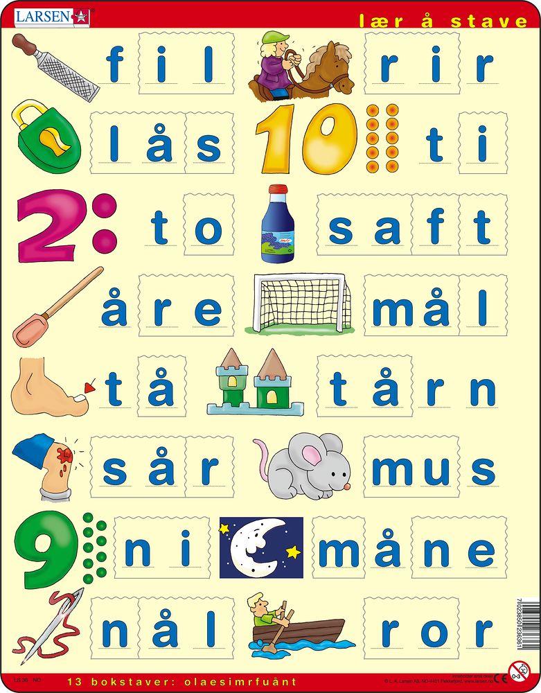LS36 - Lær å stave (små bokstaver) (Norsk)