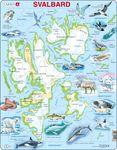 A1 - Svalbard Fysisk med Dyr
