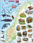 K68 - Norge fysisk med dyr