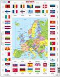 KL1 - Flagg og politisk kart av Europa