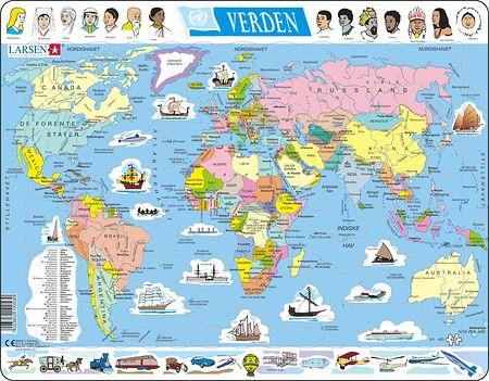 K1 - Verden, politisk kart