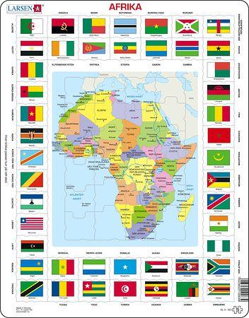 KL3 - Kart/flagg Afrika