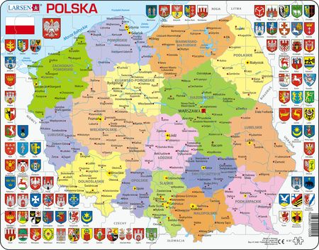 K97 - Poland Political Map