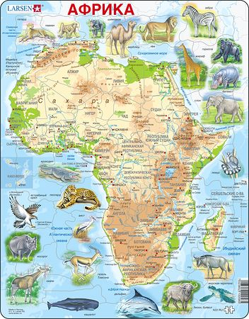 A22 - Africa map with animals