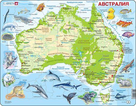 A31 - Australia, topografisk kart