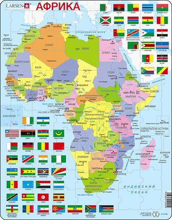 K13 - Afrika, politisk kart