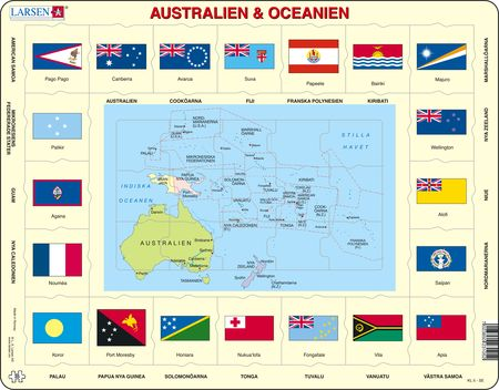 KL5 - Map/Flag - Australia and Oceania