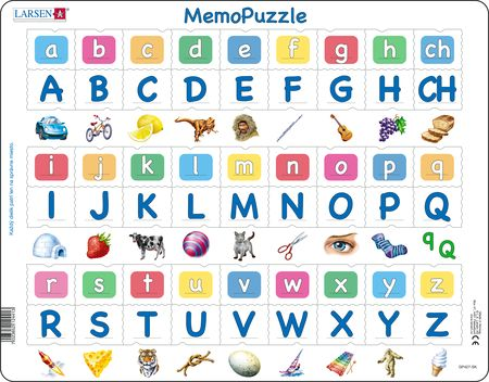 GP427 - MemoPuzzle: The Alphabet with 27 Upper and Lower Case Letters