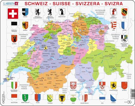 K43 - Switzerland Political Map