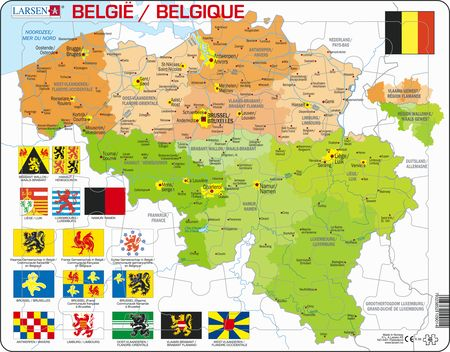 K59 - Belgium Political Map