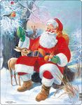 JUL7 - Santa Claus Relaxing with His Animal Friends