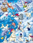 US28 - Playful Cartoon Animals in the Arctic
