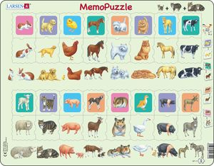 GP11 - Memopuzzle, parent and-baby, animals