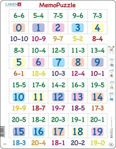 GP8 - MemoPuzzle. Subtraction with numbers from 0 - 20