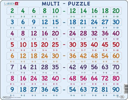 AR17 - Math Puzzle: Multiplication (2 to 9)