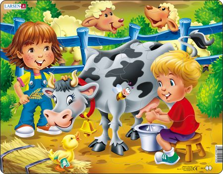 BM5 - Farm kids with cow