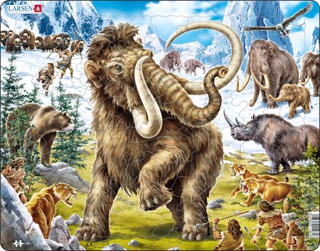 FH27 - Mammoths Being Hunted in Prehistoric Times