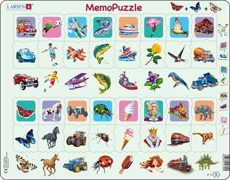 GP10 - MemoPuzzle, match pieces with similar contents.