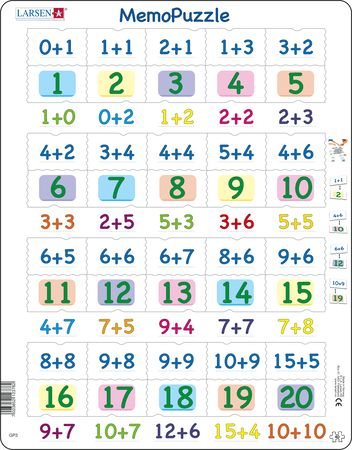 GP3 - MemoPuzzle: Addition with numbers from 0-20