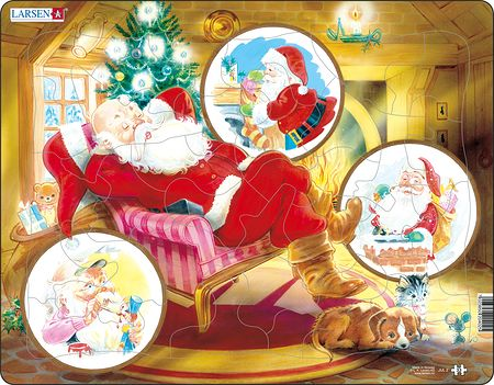 JUL2 - Santa Claus Relaxing in His Chair