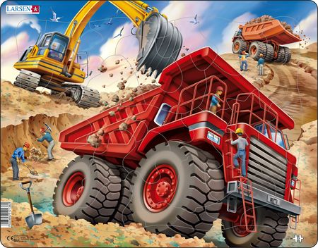 US36 - Dumper og gravemaskin