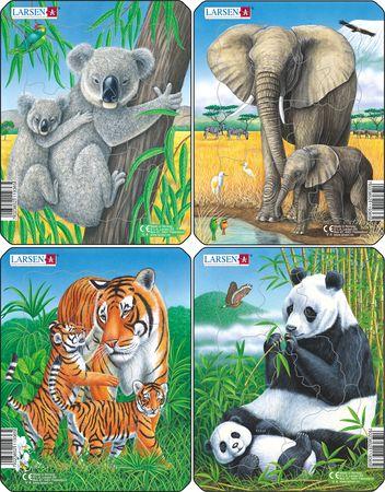 V4 - Koala, Elefant, Tiger, Panda